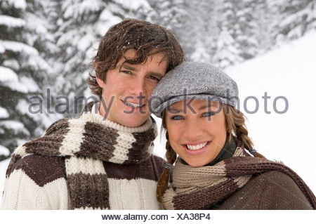 Austria, Salzburger Land, Altenmarkt, Young couple, portrait - Stock Photo