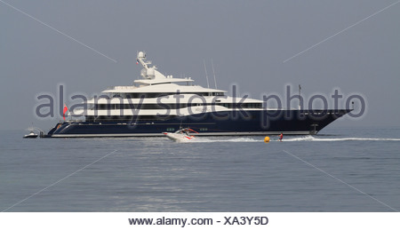 Amaryllis, a cruiser built by Abeking and Rasmussen, length: 78.43 meters, built in 2011, French Riviera, France, Europe - Stock Photo