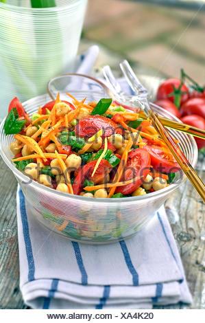 Chickpea Salad - Stock Photo