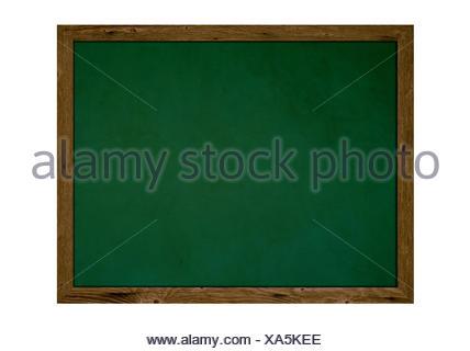 Alte isolierte Schultafel mit Holzrahmen und Textfreiraum - Stock Photo