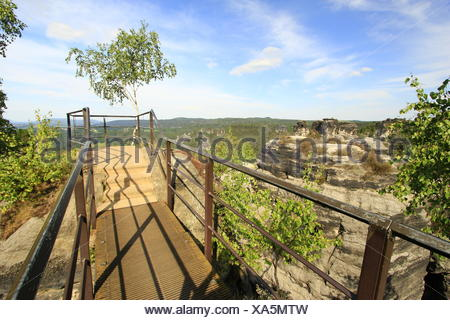 Viewpoint in the Elbe Sandstone Mountains - Stock Photo