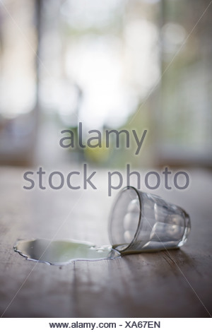 Glass tipped over - Stock Photo
