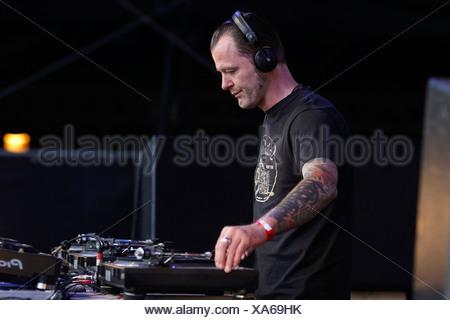 Techno Nature One Festival 2009, DJ Dag, Kastellaun, Rhineland-Palatinate, Germany, Europe - Stock Photo