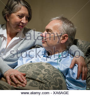 woman, hand, hands, female, emotions, bed, male, masculine, sad, blank, - Stock Photo
