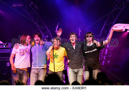 German pop group Fool's Garden performing live at Openquer in Zell, Lucerne, Switzerland - Stock Photo