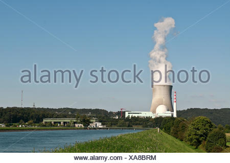 nuclear power plant leibstadt - Stock Photo
