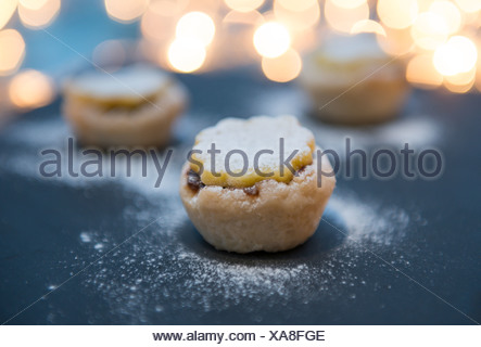 Hand made miniature mince pies. - Stock Photo