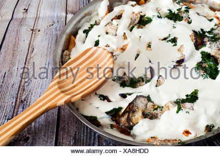 a vegetarian baked paste - Stock Photo