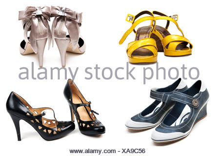 1451338539 Black and Yellow elegant high heel shoes. Macro of high heels Stock ...