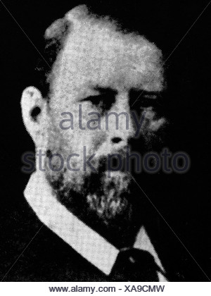 Stoker, Bram (Abraham), 8.11.1847 - 20.4.1912, Irish author / writer, portrait, , Additional-Rights-Clearances-NA - Stock Photo