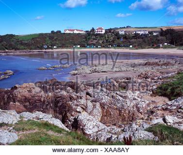 Beach at Coldingham Bay, Scotland, UK - Stock Photo