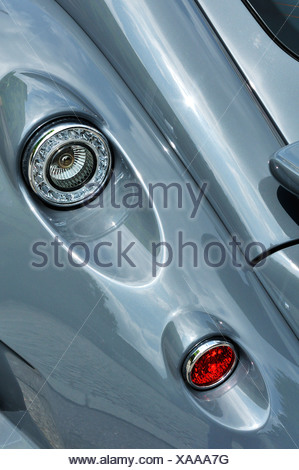 Wiesmann sports car, GT, detail view, tail lights, Munich, Bavaria, Germany, Europe - Stock Photo