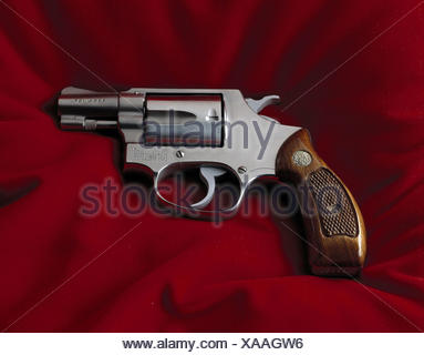 Revolvers, Smith & Wesson colt, 38 Specially, Still life, product photography, weapon, weapons, firearm, fist firearm, revolver, attack, defence, criminal activity, shoot - Stock Photo
