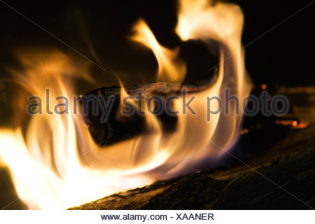 Fire, close-up - Stock Photo