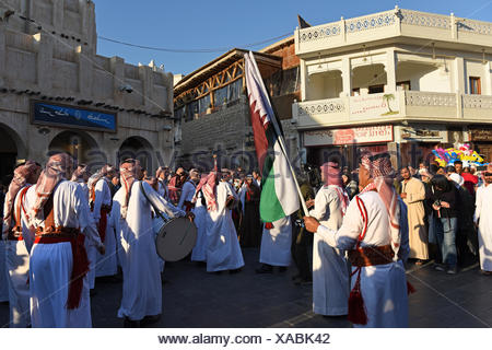Traditional band from Jordan performing at winter festival