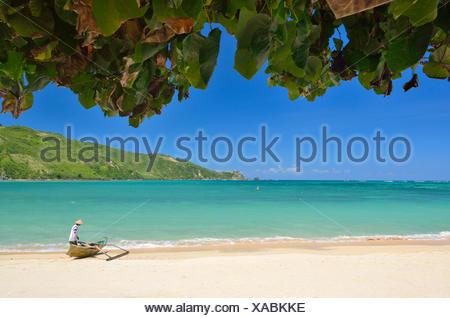 Indonesia, West Nusa Tenggara, Kabupaten Lombok Tengah, Kuta beach - Stock Photo