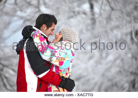 Couple embracing tenderly - Stock Photo