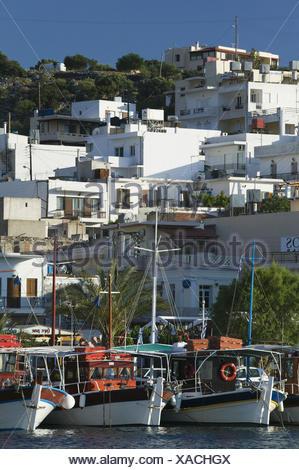 Griechenland, Kreta, Elounda, Hafen, Morgens, - Stock Photo