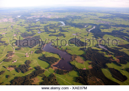 Deutensee and other lakes - Stock Photo