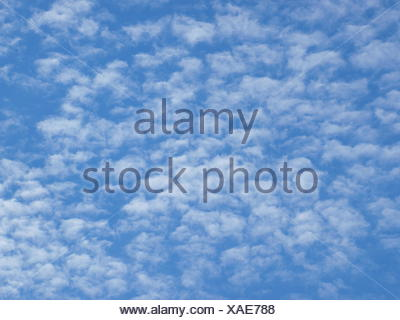 Fluffy clouds, Cirrocumulus - Stock Photo