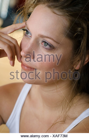 Young woman, portrait, close up - Stock Photo