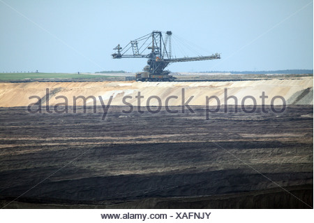 Welzow-South, spreaders for overburden - Stock Photo