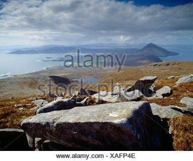 Ireland. County Mayo. Achill Island coast. - Stock Photo