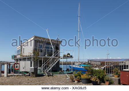 Houseboat Ærøskøbing - Stock Photo
