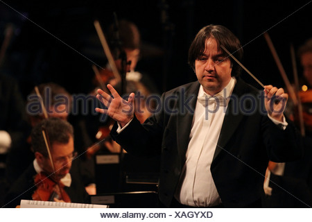 Stefan Blunier, chief conductor of the Beethoven Orchestra of Bonn, Koblenz, Rhineland-Palatinate, Germany, Europe - Stock Photo
