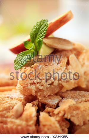 Fresh baked almond dessert pie - Stock Photo