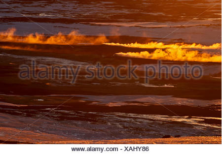Iceland, north-east, Geothermal area Namafjall, Fumaroles - Stock Photo