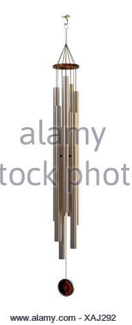 3D Rendering Wind Chime on White - Stock Photo
