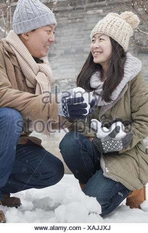 smiles winter - Stock Photo