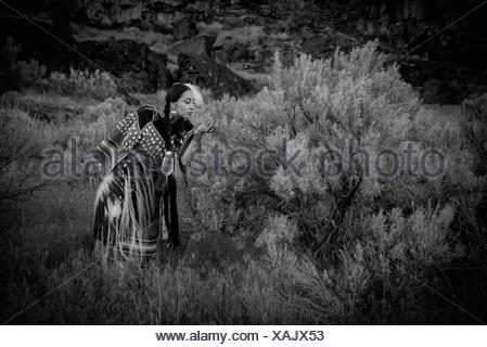 USA,Idaho,Willow Abrahamson,MR 0562. Shoshone Beauty along Snake River Canyon - Stock Photo