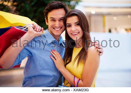 Portrait of beautiful couple Debica, Poland - Stock Photo
