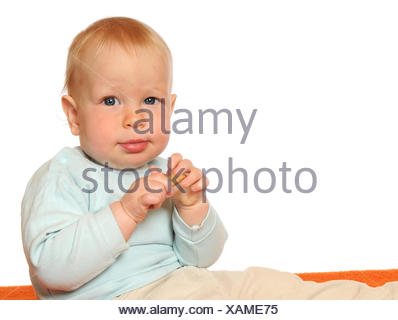 baby, pastry, eating, eat, eats, nibble, nibbling, nibbles, isolated, optional, - Stock Photo