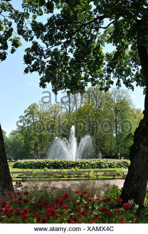 Fountain in park - Stock Photo