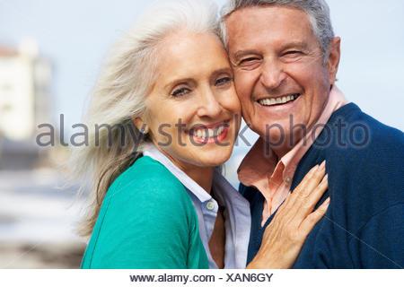 loving,couple,older couple - Stock Photo