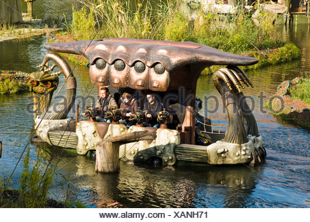 Phantasialand amusement park, theme park Fantasy, attraction WAKOBATO, Bruehl, Nordrhein-Westfalen, Germany, Europe - Stock Photo