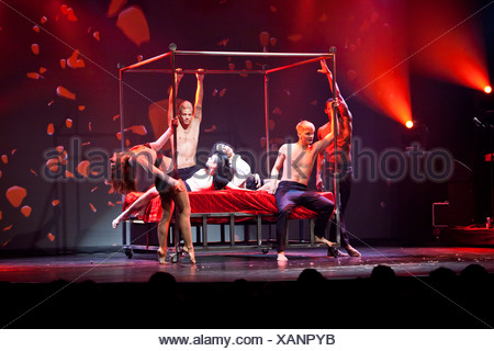Rock songs and artistic performances, live performance, Das Zelt, events venue, show Rock Circus, Lucerne, Switzerland, Europe - Stock Photo