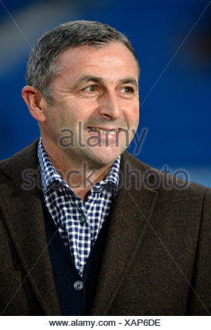 Sporting director Klaus Allofs, manager of VfL Wolfsburg, portrait, Wirsol Rhein-Neckar-Arena, Sinsheim-Hoffenheim - Stock Photo