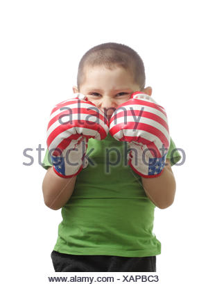 Boxer protecting face - Stock Photo