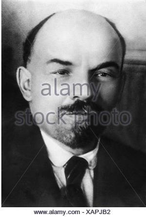 Lenin (Vladimir Ilyich Ulyanov), 22.4.1870 - 21.1.1924, Russian politician, portrait, 1916, Additional-Rights-Clearances-NA - Stock Photo