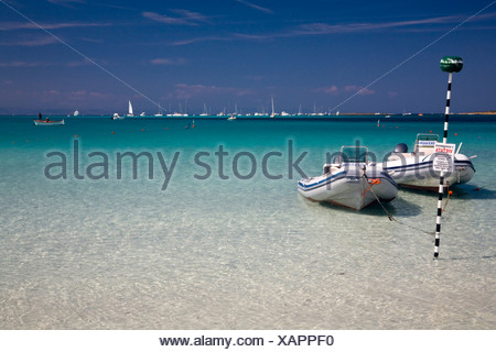 Beach of Stintino, Nurra region, province of Sassari, Sardinia, Italy - Stock Photo