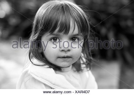 Argentina, Buenos Aires, Portrait of girl (2-3) looking at camera - Stock Photo