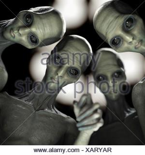 Alien Abduction - Stock Photo