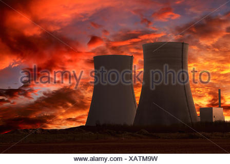 nuclear reactor,nuclear power station - Stock Photo