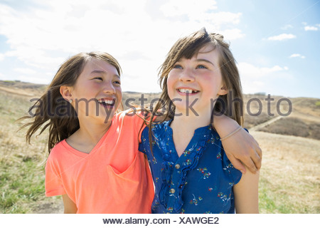 Portrait of little girls - Stock Photo
