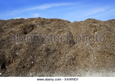 composting ecological compost outdoor warehouse - Stock Photo