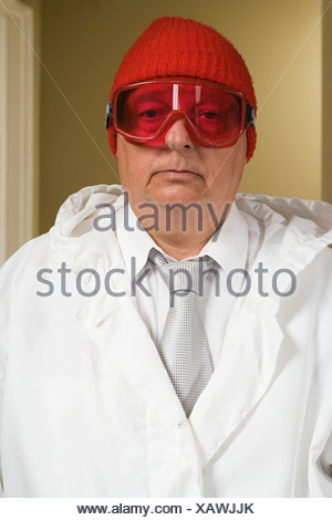 Portrait of a man in a ski mask - Stock Photo